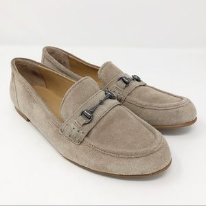 FRANCO SARTO Porter suede horse bit loafers shoes